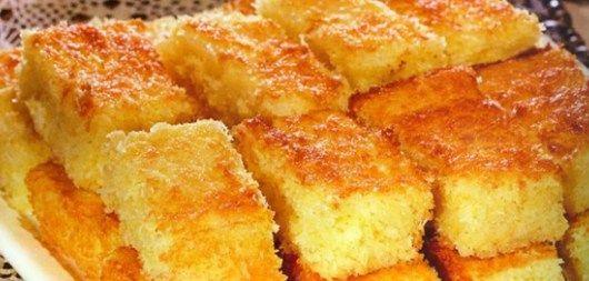 Ingredientes  1 kg de mandioca; 3 colheres de sopa de margarina; 250 ml de leite; 100 gramas de coco ralado ou em pedaços; 300 gramas de açúcar; 4 ovos. Bolo de Mandioca de Liquidificador Mod…