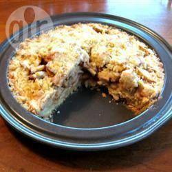 Foto da receita: Torta de maçã com massa de biscoito amanteigado