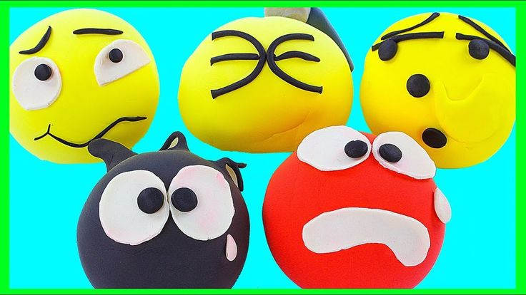 DIY Learn How to Make Colorful Playdoh Emoji Happy Faces Toy DIY Project