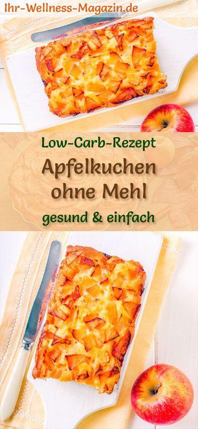 Apfelkuchen ohne Mehl: kohlenhydratarmes Rezept ohne Zucker und Getreidemehl; gesund, carbo …   – Low Carb Backen