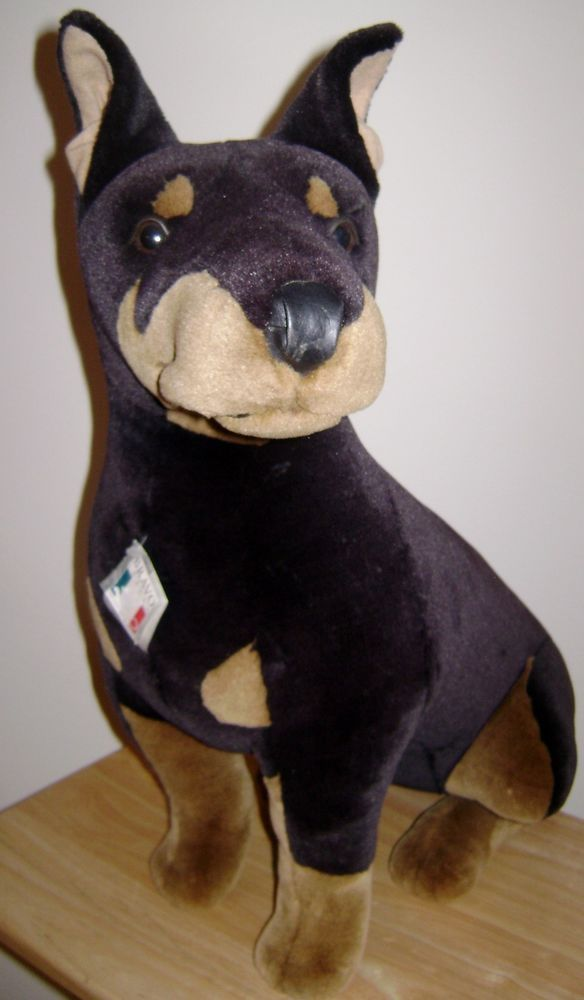 "foto de Doberman Pinscher Stuffed Plush Animal Dog 22"" Large"