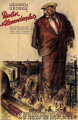 Affiche du film Berlin Alexanderplatz (1931) avec Heinrich George en Franz Biberkopf