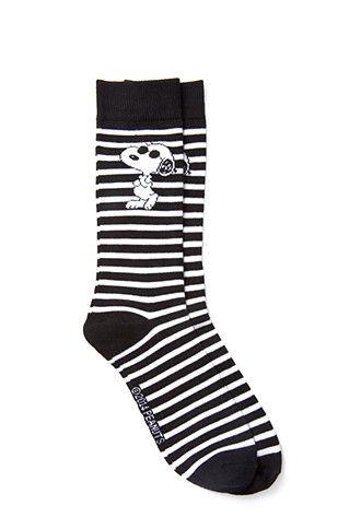 Striped Snoopy Socks