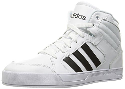 adidas NEO Women's Raleigh Mid W Fashion Sneaker, White/Black/White, 9 M  US: These girls' shoes re-create old-school basketball sneakers with a  modern feel.