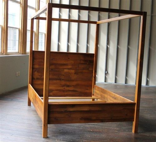 Custom Reclaimed Wood Canopy Bed Made By ECustomFinishes