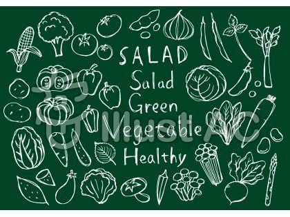 オリジナルのフリー素材『野菜詰め合わせ手書き手描きイラスト』