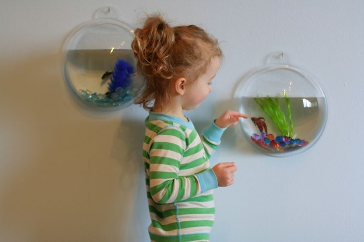 Wall Mounted Fish Tanks - part of Designing Playspaces series | FUN AT HOME WITH KIDS