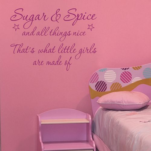 Girls Room Decor Ideas SUGAR AND SPICE Wall Quote By