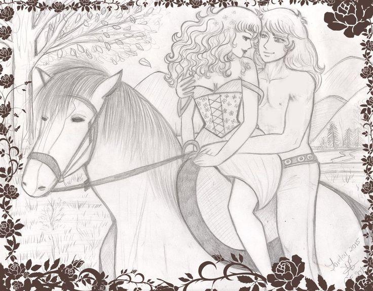 Paseo a caballo_Albert y Candy by Lorelei2323.deviantart.com on @DeviantArt