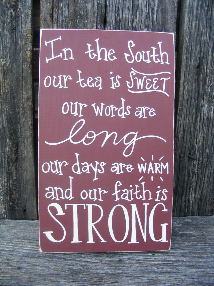In the South... sign by OwlonaLimbCreations on Etsy, $27.00