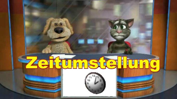 Zeitumstellung Sommerzeit - Winterzeit Uhren    Talking Ben & Tom sprechende Katze