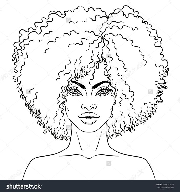 African American pretty girl. Vector Illustration of Black
