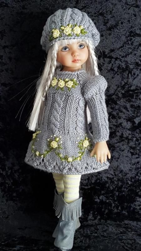 "DRESS,HAT&BOOTS SET MADE FOR EFFNER LITTLE DARLING,MY MEADOW&MARU 13"" DOLLS"