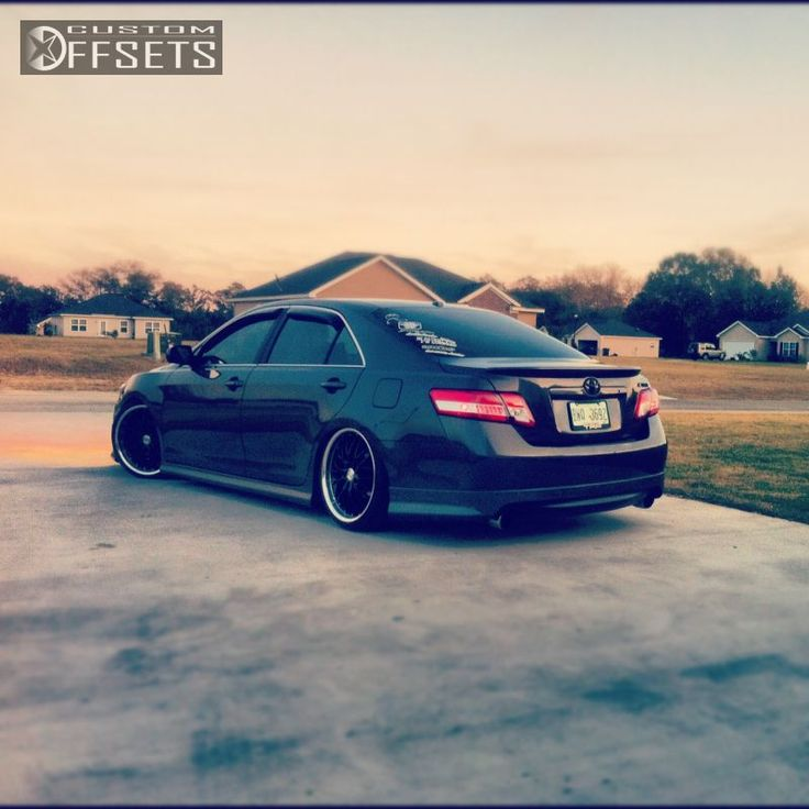 Wheel Offsetwheel Offset 2011 Toyota Camry Tucked Dropped 3 Custom Rims Custom Rims