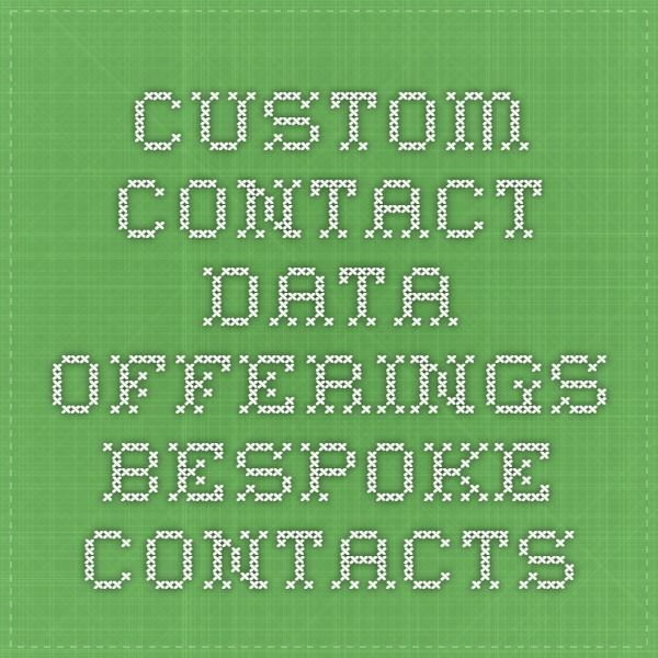 Bespoke Contacts offers you with four main products to address the needs of your business contact lists. Our Data-as-a-service (DaaS) version of Contact Discovery, Contact Append, Competitive Intelligence and Technology Infrastructure Intelligence