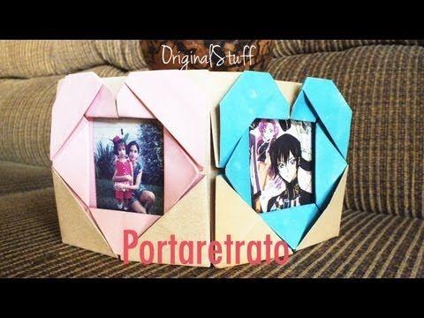 ▶ Portaretrato con Corazón [Origami] [HD] - YouTube