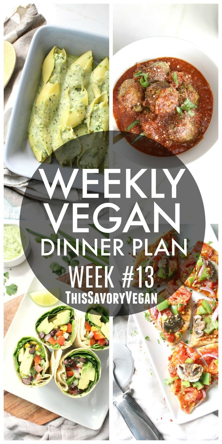5 nights worth of vegan dinners to help inspire your menu. Choose one recipe to add to your rotation or make them all - shopping list included.