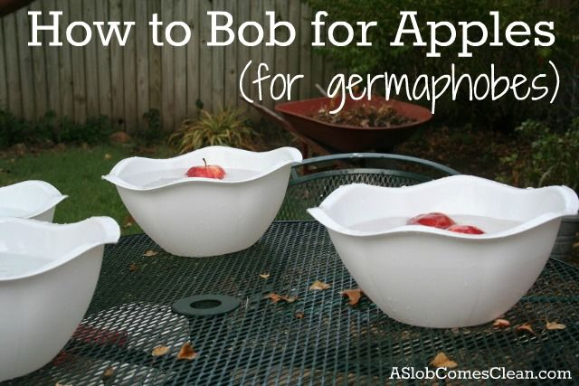 Fun Halloween & Fall Activity: Bobbing for apples- for Germaphobes