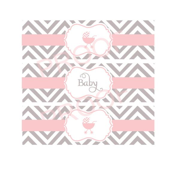 printable water bottle labels for baby shower by 500