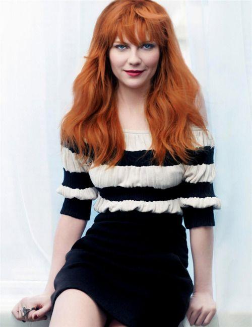 Kirsten Dunst has always been a cutie. Love the red hair.