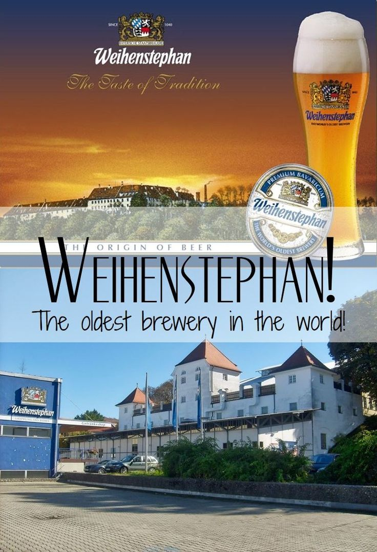 Weihenstephan was founded in 1040 and is the oldest brewery in the world still in operation. It located 40km from Munich in the city of Freising.