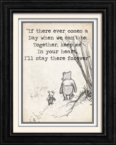 """VINTAGE WINNIE THE POOH "" 8x10 ORIGINAL BOOK WALL WORD ART PRINT/POSTER Gift"