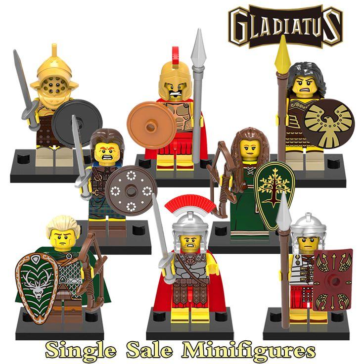Building Blocks Action Figures Gladiatus Warriors Hero of Sparta Star Wars Superhero Batman Set Bricks Kids Educational DIY Toys