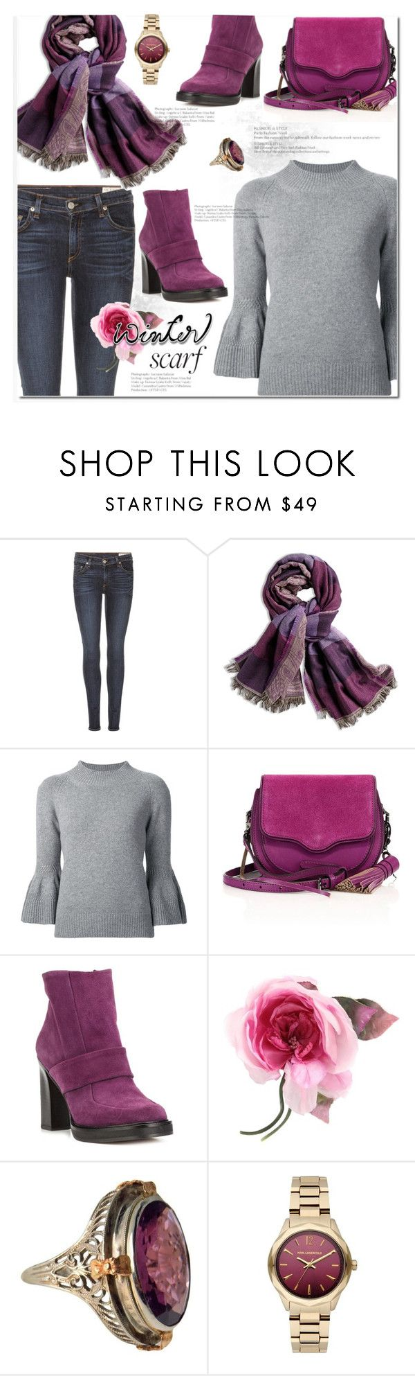 """""""Winter Scarf Style"""" by huda-alalawi ❤ liked on Polyvore featuring rag & bone, Chico's, Carolina Herrera, Rebecca Minkoff, Carven, Gucci, Karl Lagerfeld and scarf"""