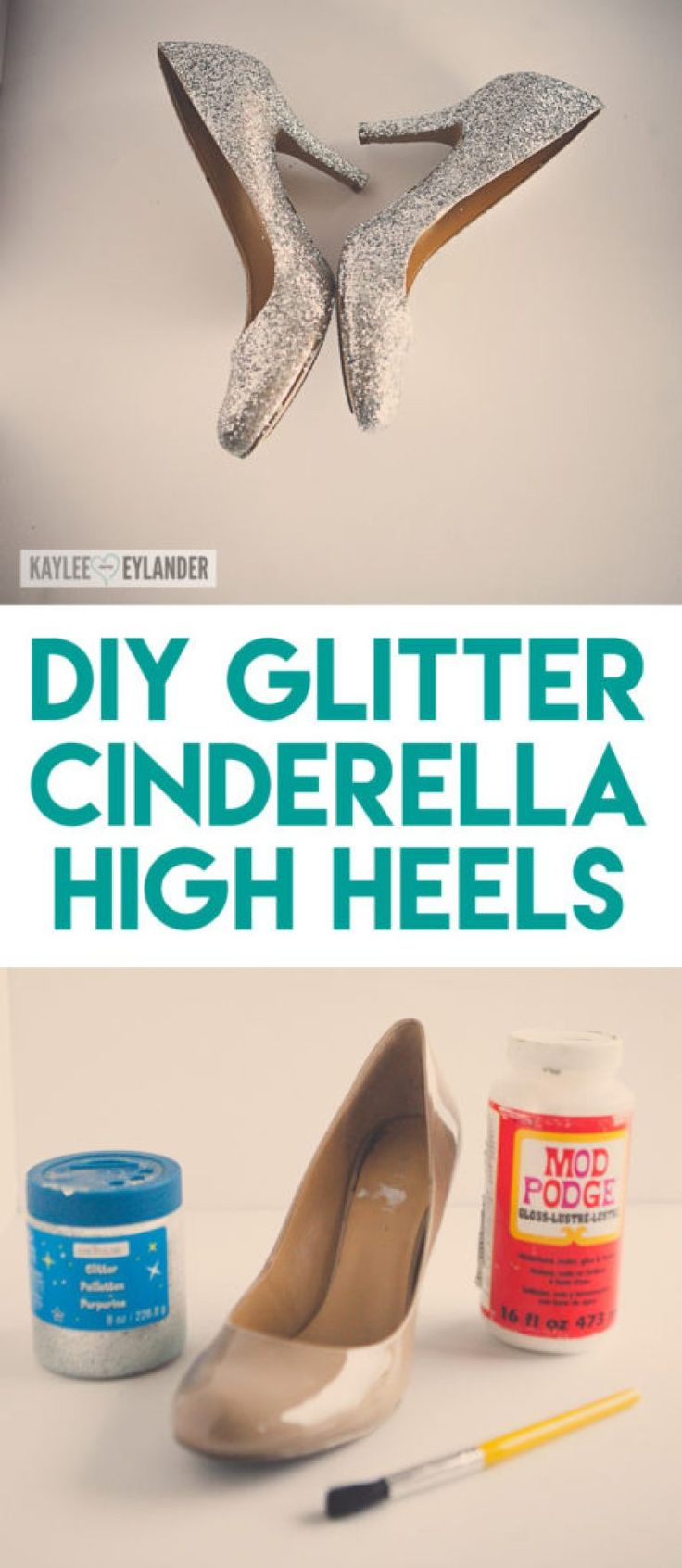 Cinderella Costume DIY Shoes