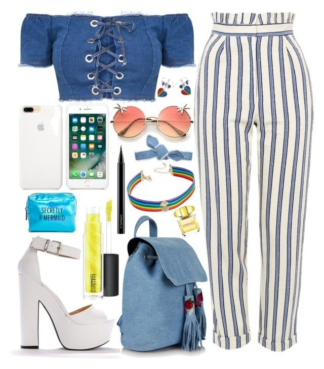 Untitled #772 by natallie on Polyvore featuring polyvore, moda, style, Topshop, INC International Concepts, Colette Malouf, MAC Cosmetics, Versace, Pinch Provisions, fashion and clothing