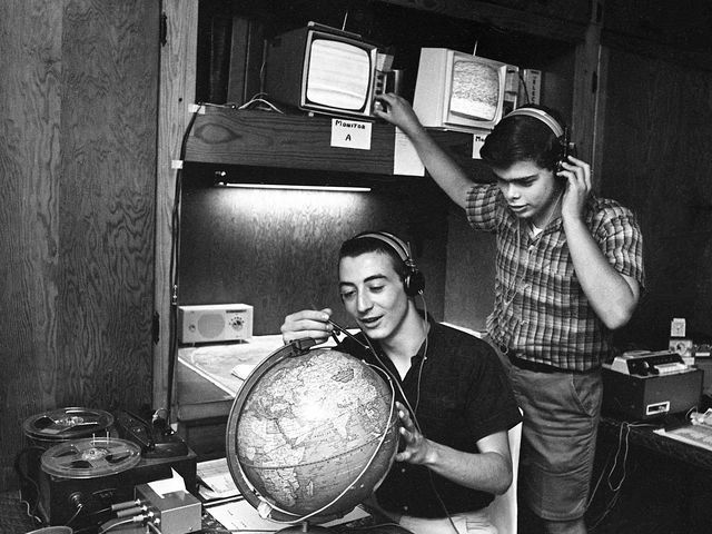 Nashville Then: June 1965 Ted Keller, 16, left, and Harvill Eaton, 17, monitor television and radio sets which help them gather information and plot the position of the Gemini 4 space capsule in their homemade tracking station in Keller's bedroom June 4, 1965. Both are students at Two Rivers High School. Frank Empson / The Tennessean