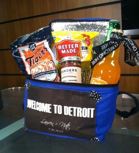 Detroit Wedding Welcome Bag!  Great for Out-of-town guest.