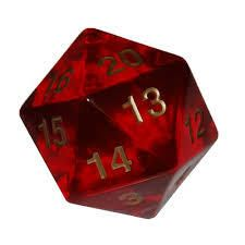 COUNTDOWN D20 RUBY GOLD 55mm - Dice - Wizard's Tower