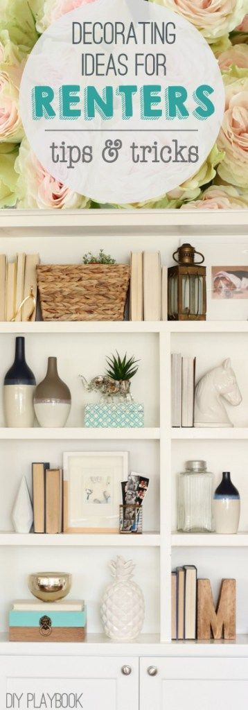 9 decorating ideas for renters. Lots of great DIY projects and decor tricks to make your space feel like home...even if it's temporary.