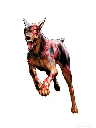 "Did you know, In the movies (Resident Evil), they used real dogs. The dogs were able to jump through 1"" glass and even wore make-up. Look it up :)"