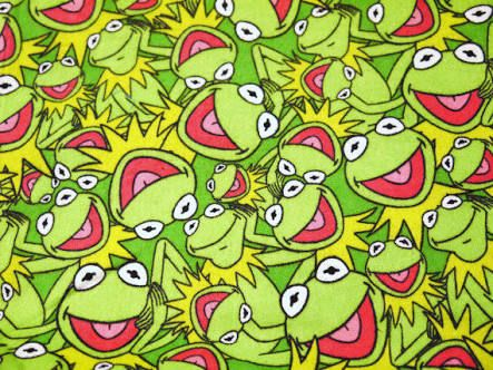 Kermits everywhere! Awesome Fabric
