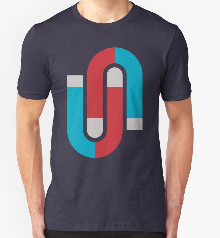 Magnetize. #tshirt #tshirtdesign #apparel #clothing #redbubble #yanmos #popart #minimal #magnet #retro