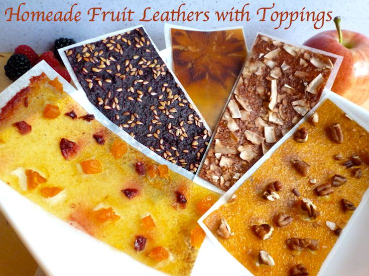 Homemade Fruit Leathers with Toppings == Angela's Kitchen