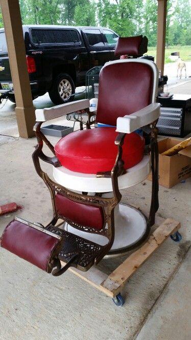 On ebay antique Koken barber chair