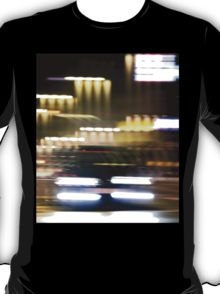 Car in street in urban city lights with distortion effect T-Shirt
