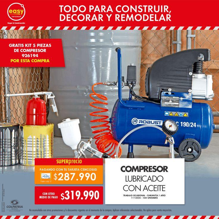 Compresor Lubricado con Aceite • Trabajo ocasional • Garantía 1 año 1112335