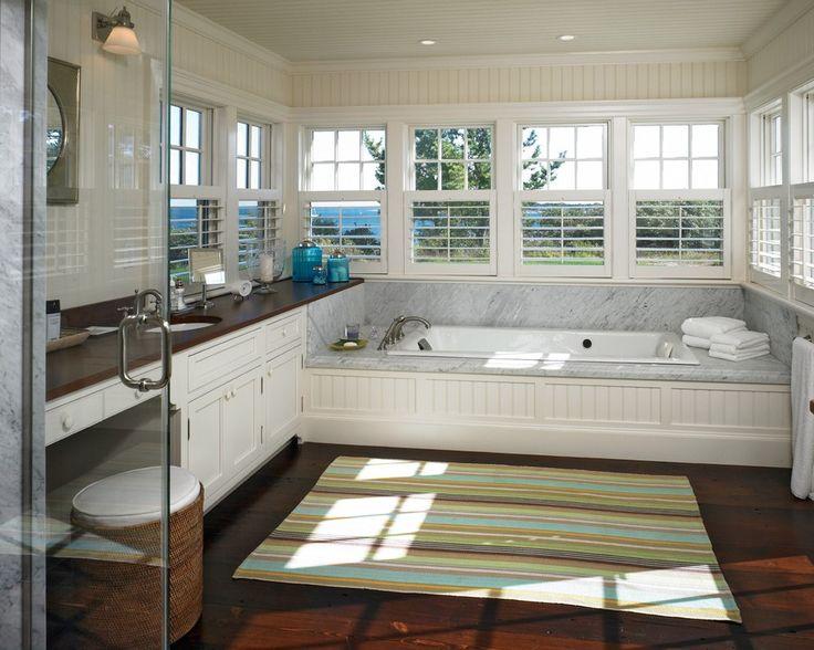 Marble Tub Surround Bathroom Mediterranean with Muntins Mounted Bathtub Faucets