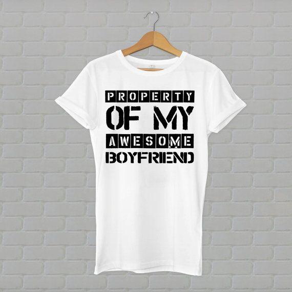 Eigenschap van mijn geweldige vriend, vriendin shirt vriendin tshirt, vriendin cadeau, t-shirt, tshirt, t-shirt, tee, cadeau, verkoop