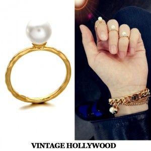 [[별그대협찬][[마디반지][Capsule] Pearl Mid Knuckle Ring]