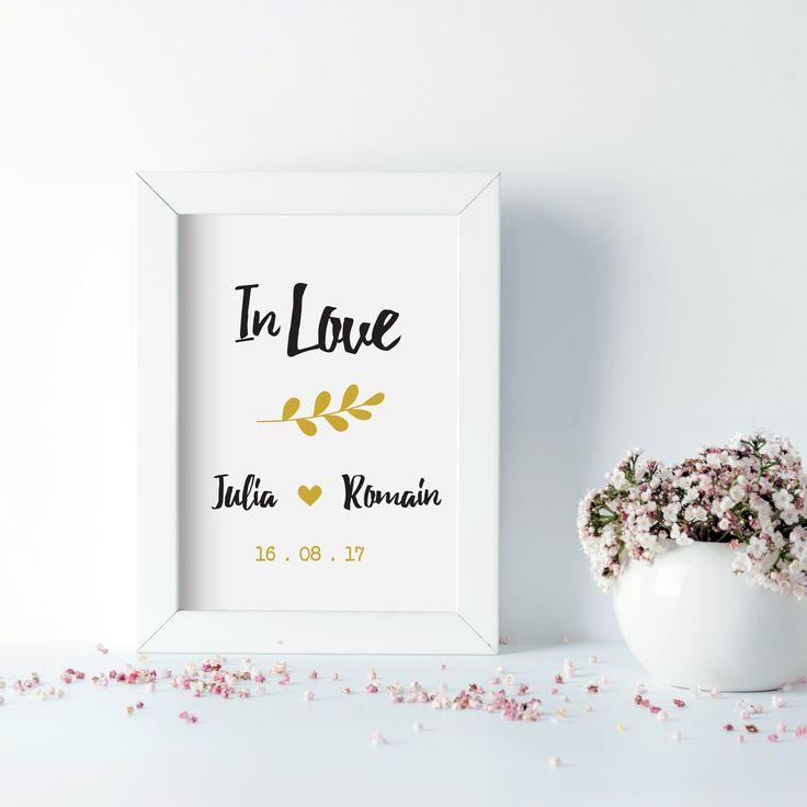 "Affiche encadrée ""In Love"""