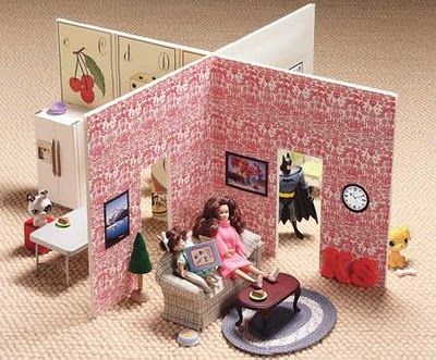 simple idea for a barbie house.  You could put together as many as you want!