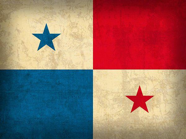 Panama Flag Vintage Distressed Finish