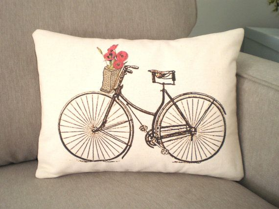 Throw Pillows With Bikes : Bikes, Bicycles and Cushions on Pinterest