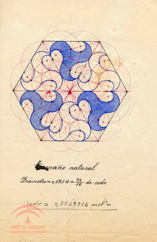 P-008804.jpg from Research Resources of the Alhambra. Drawing tile. Geometric study by unknown artist. http://alhambra-patronato.es/ria/handle/10514/4892%3Fshow%3Dfull&usg=ALkJrhjQ9azpZrCnKIpq56GoYTFfRRZZDQ