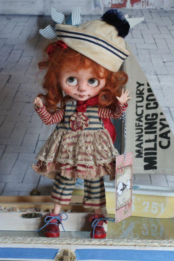 ooak blyh not blythe custom: My little Sailor by heliantas